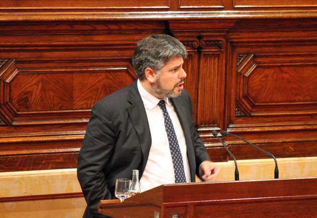 Albert Batet al Parlament.