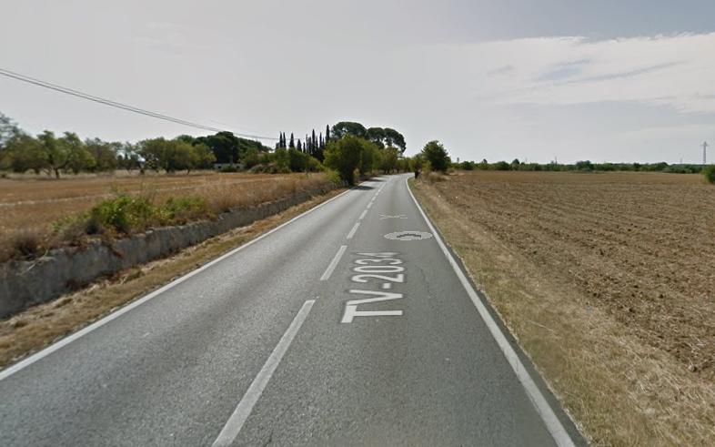 Esl fets van passar a la carretera de Valls a Puigpelat