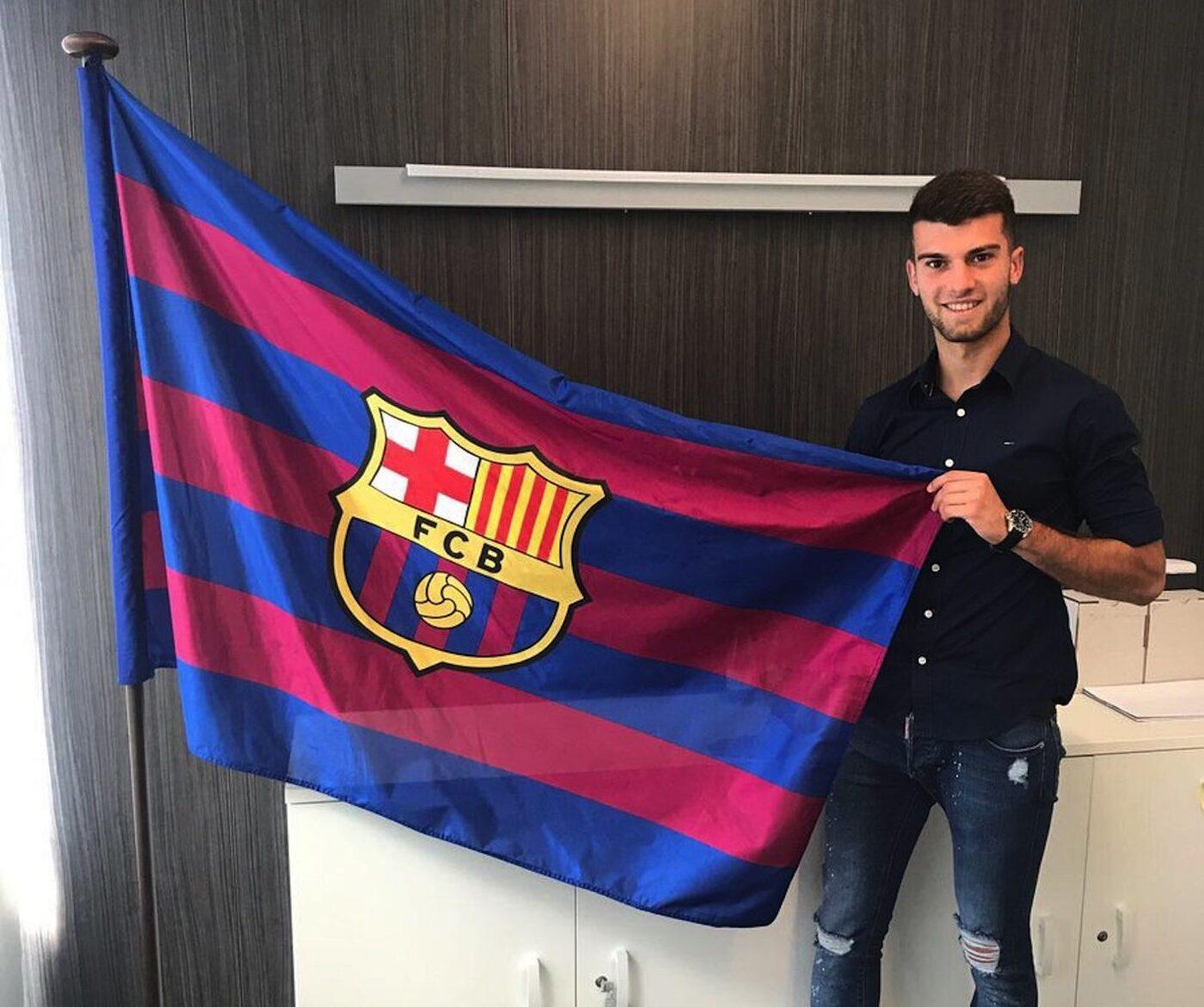 Calavera amb la bandera del Barça.
