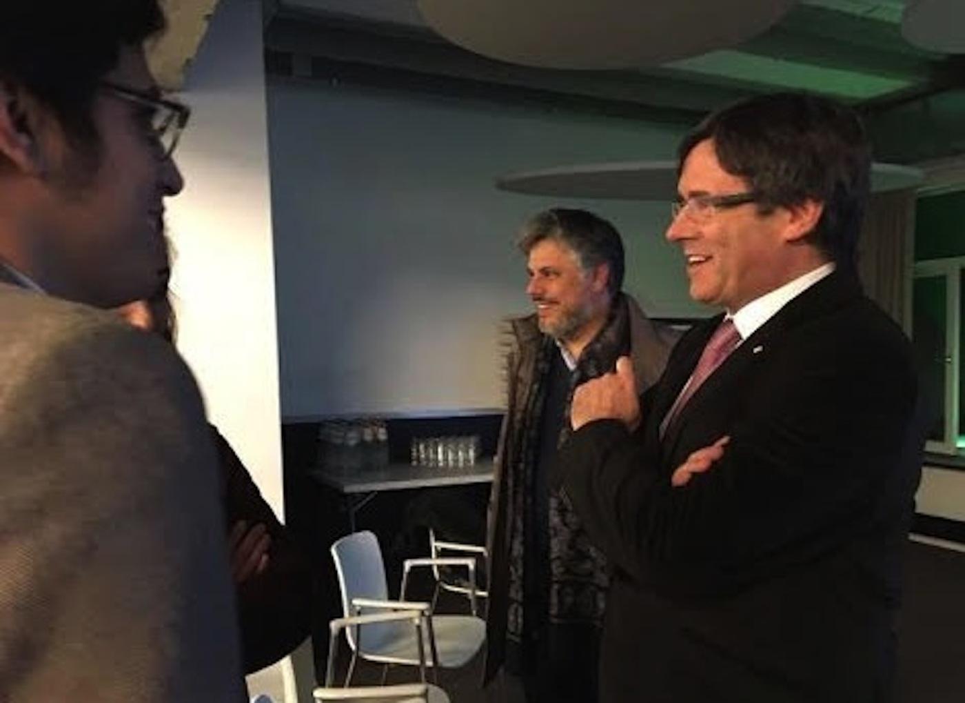 Albert Batet i el president en la presentació del llibre.